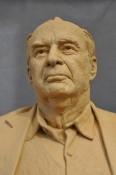 Portrait bust, sculpture portrait, clay sculpture, Lynchburg College, Claytor Nature Study Center, Richard Pumphrey