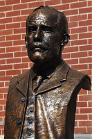 Richard Pumphrey, bronze sculpture, portrait sculpture, portait bust, ETSU, George L. Carter, railroad, Tennessee, sculpture installation