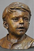 """Drew"", children portraiture, bronze portraiture, Richard Pumphrey, portrait busts, bronze sculpture, figurative sculpture"