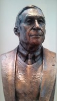 "ROBERT ""BOB"" SLAUGHTER, portrait bust (20% larger than life), Bronze, 201, National D-Day Memorial, Bedford, VA. Richard Pumphrey, Sculptor"