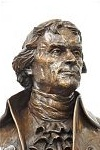 Corporation for Poplar Forest, Virginia, Poplar Forest, Monticello, THOMAS JEFFERSON, Houdon,  Jefferson portrait, Jefferson portrait bust, bronze, portrait, Richard Pumphrey; bronze sculpture