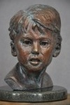 """Wyatt"", childrens portraiture, bronze portraiture, Richard Pumphrey, potrait busts, bronze sculpture, figurative sculpture"