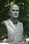 Portrait Sculpture, Bronze, Harry S. Truman,  National D-Day Memorial, Bedford, Virginia, Richard Pumphrey