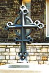columbarium cross, St. Paul's Episcopal Church, lynchburg, Richard Pumphrey, cast iron