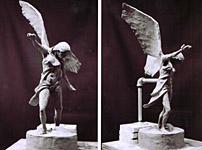 "Memorial Sculpture Maquette, ""Compassionate Victory"",  Plasticine, Richard Pumphrey"