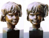 portrait sculpture children,