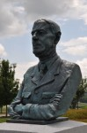 National D-Day Memorial, CHARLES DEGAULLE, bronze portrait, Richard Pumphrey